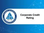corporate credit rating