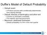 duffie s model of default probability