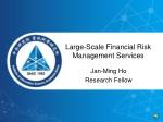 large scale financial risk management services