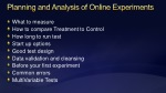 planning and analysis of online experiments