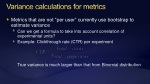 variance calculations for metrics