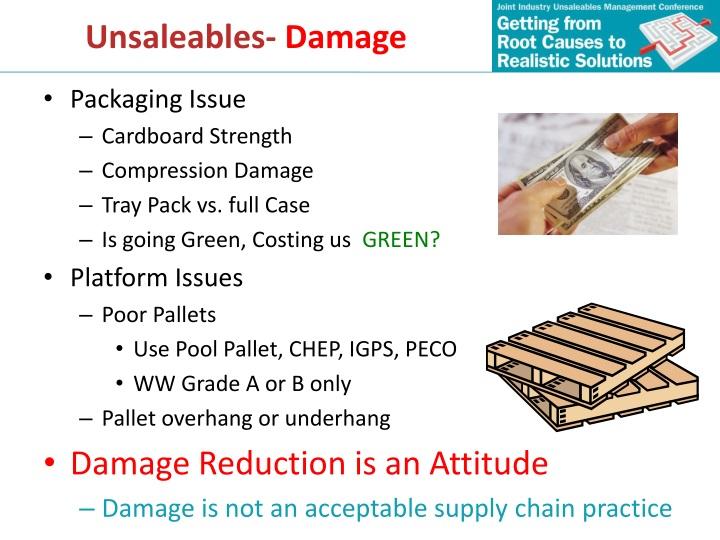 PPT - Unsaleables 101 PowerPoint Presentation - ID:1516384
