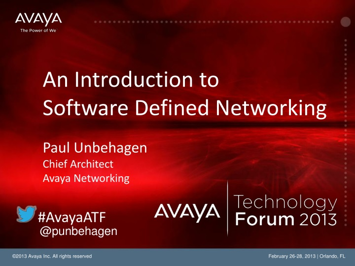 An introduction to software defined networking