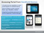 accessing portal from handheld devices