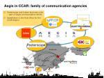 aegis in ccar family of communication agencies
