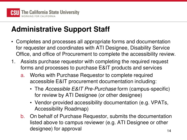 Administrative Support Staff