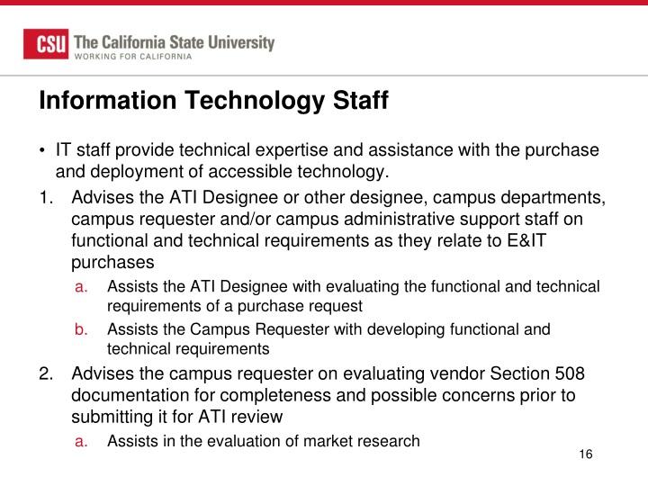 Information Technology Staff