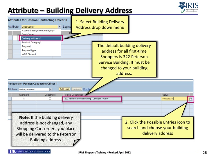 Attribute – Building Delivery Address