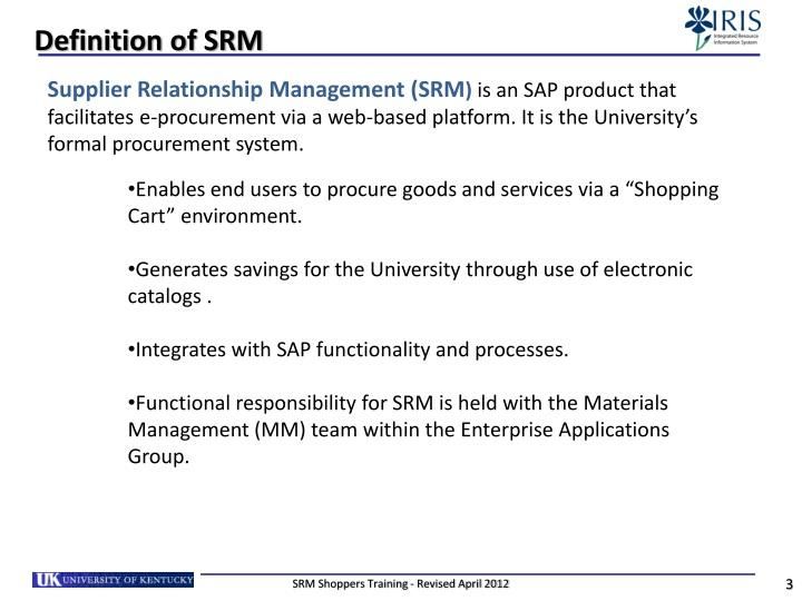 Definition of srm