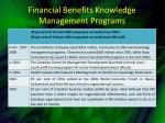 financial benefits knowledge management programs