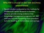 why km is crucial in the new business environment