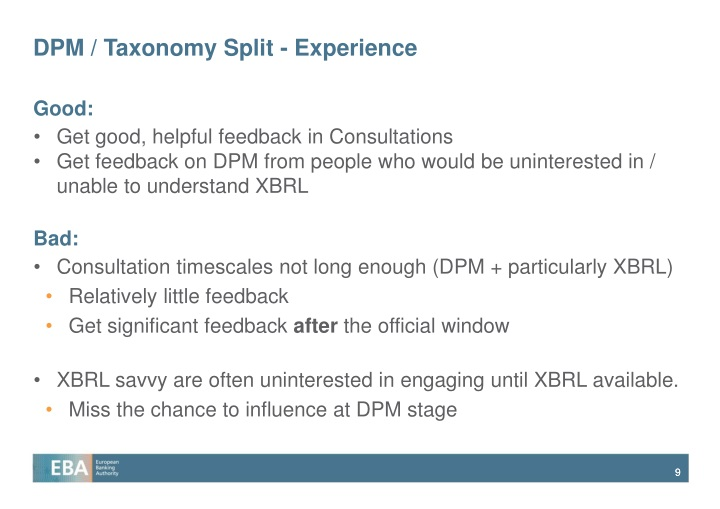 DPM / Taxonomy Split - Experience
