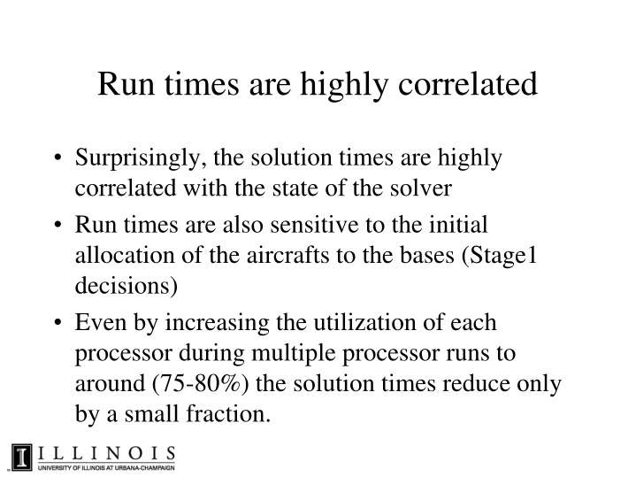 Run times are highly correlated