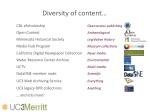 diversity of content