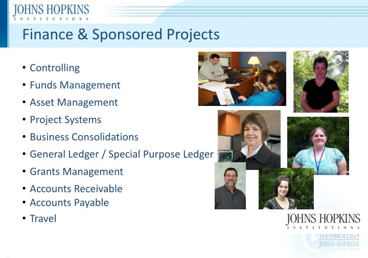 Finance & Sponsored Projects
