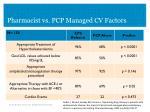 pharmacist vs pcp managed cv factors