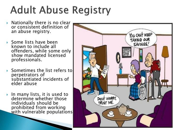 Adult Abuse Registry