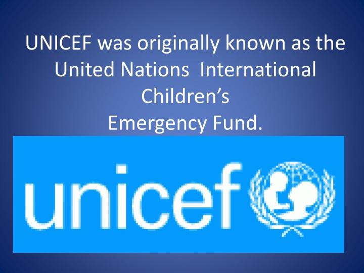 a history of united nations international childrens emergency fund
