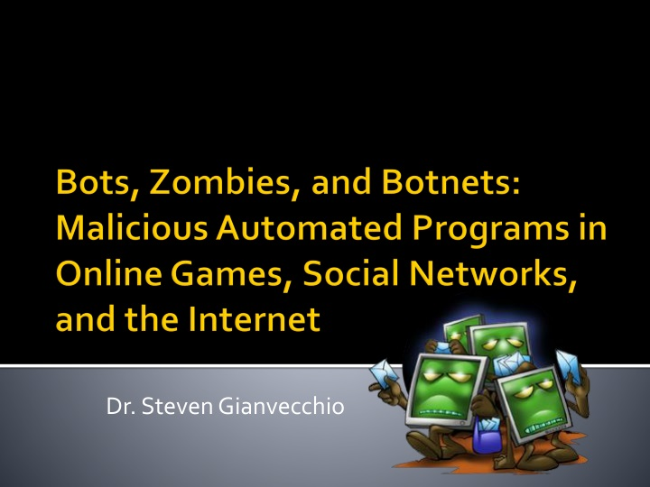 Ppt bots zombies and botnets malicious automated programs in bots zombies and botnets malicious automated programs in toneelgroepblik Gallery