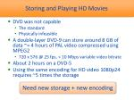 storing and playing hd movies