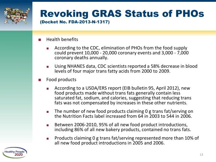 Revoking GRAS Status of PHOs