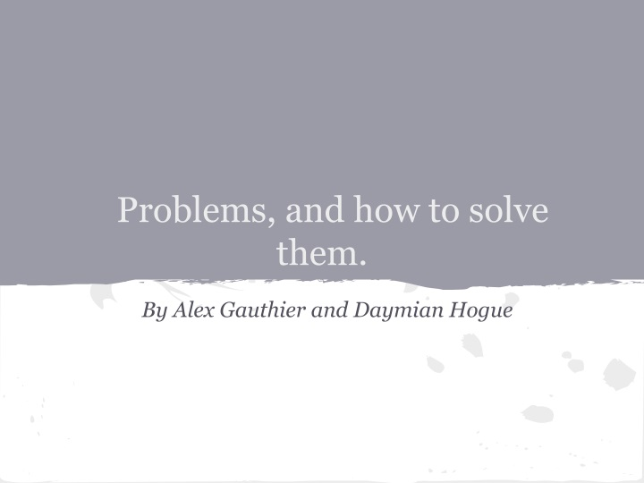 problems and how to solve them n.