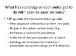what has sociology or economics got to do with peer to peer systems