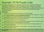 example pltw puzzle cube