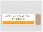 gold as a natural resource