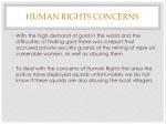 human rights concerns