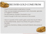 where does gold come from