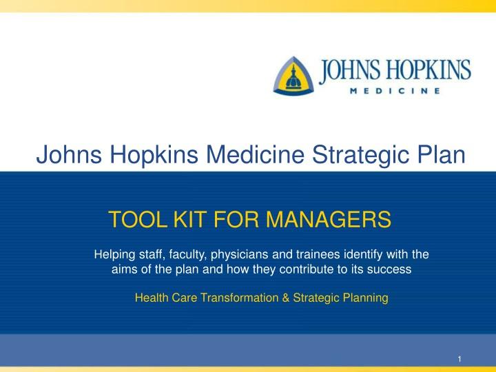 johns hopkins medicine strategic plan n.