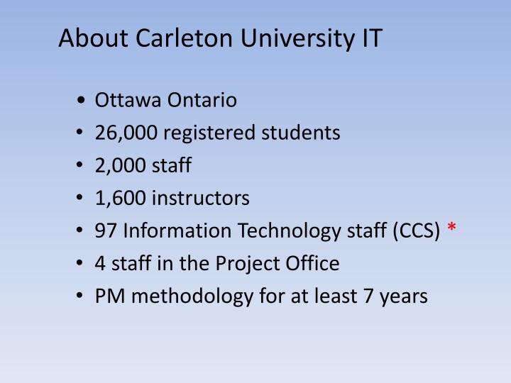 About Carleton University IT