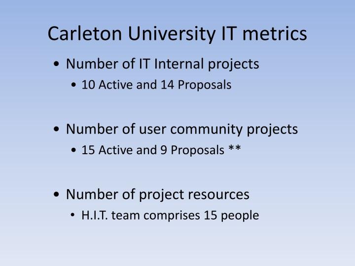Carleton University IT metrics