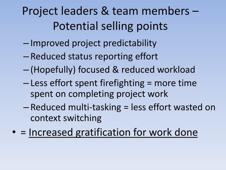 Project leaders & team members –