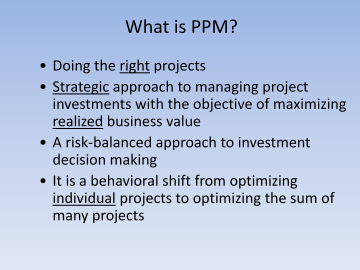What is PPM?