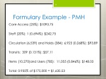 formulary example pmh