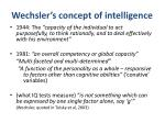 wechsler s concept of intelligence