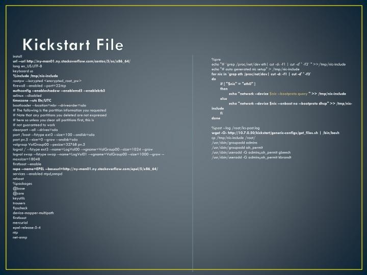 PPT - Integrating Kickstart and Windows Deployment Services