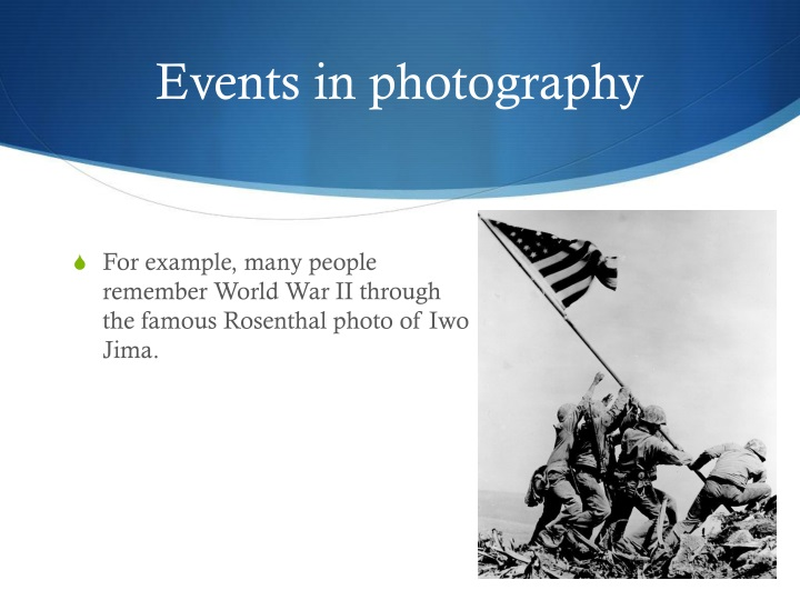 Events in photography