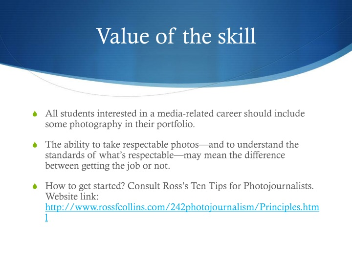 Value of the skill