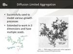 diffusion limited aggregation