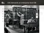 eve demands an enterprise level db