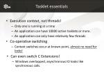 tasklet essentials