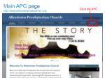 main apc page