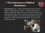 i the importance of biblical meditation