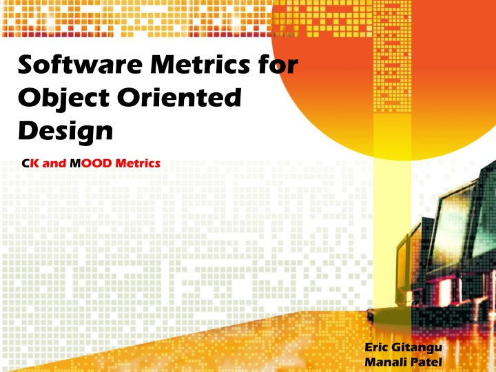 software metrics for object oriented design n.