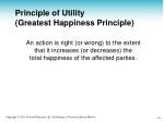 principle of utility greatest happiness principle