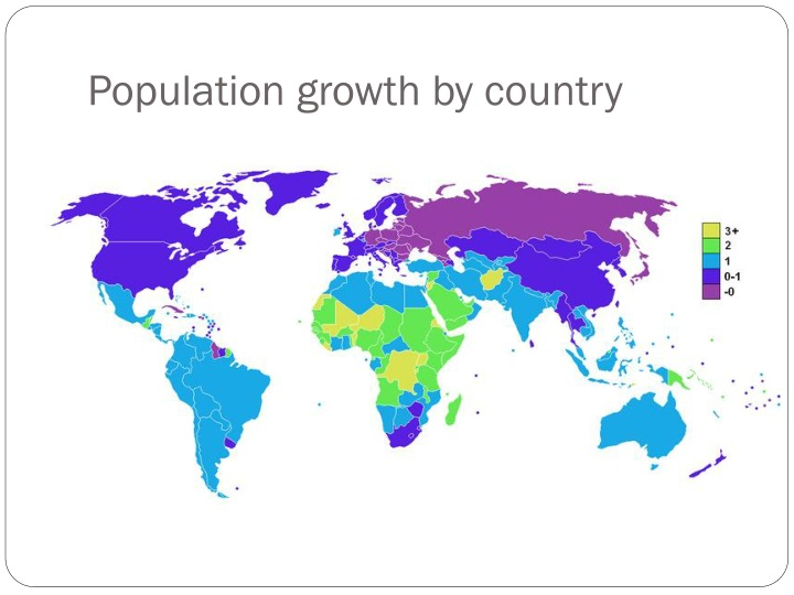 Population growth by country