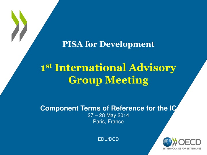 pisa for development 1 st international advisory n.